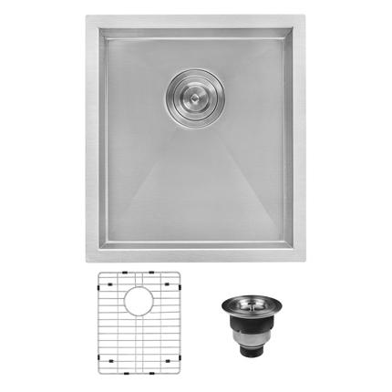 Ruvati Undermount Stainless Steel 16 in. Bar Prep 16-Gauge Single Bowl Kitchen Sink
