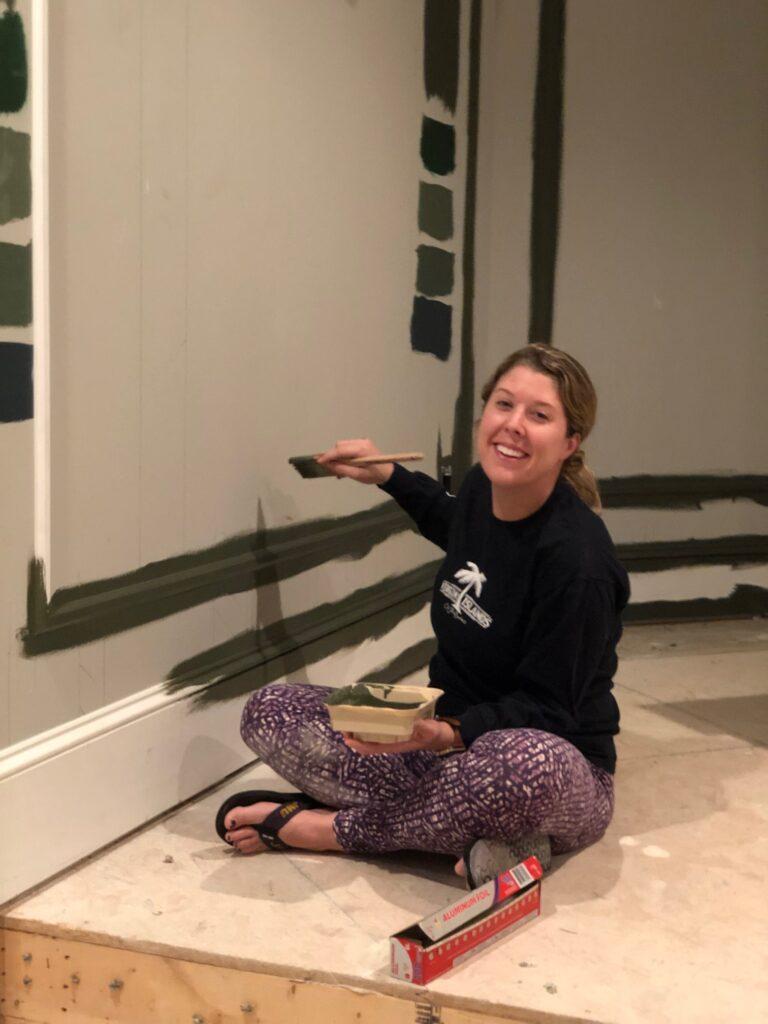 Megan helped paint!