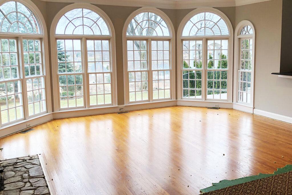 Prep work for refinish red oak flooring