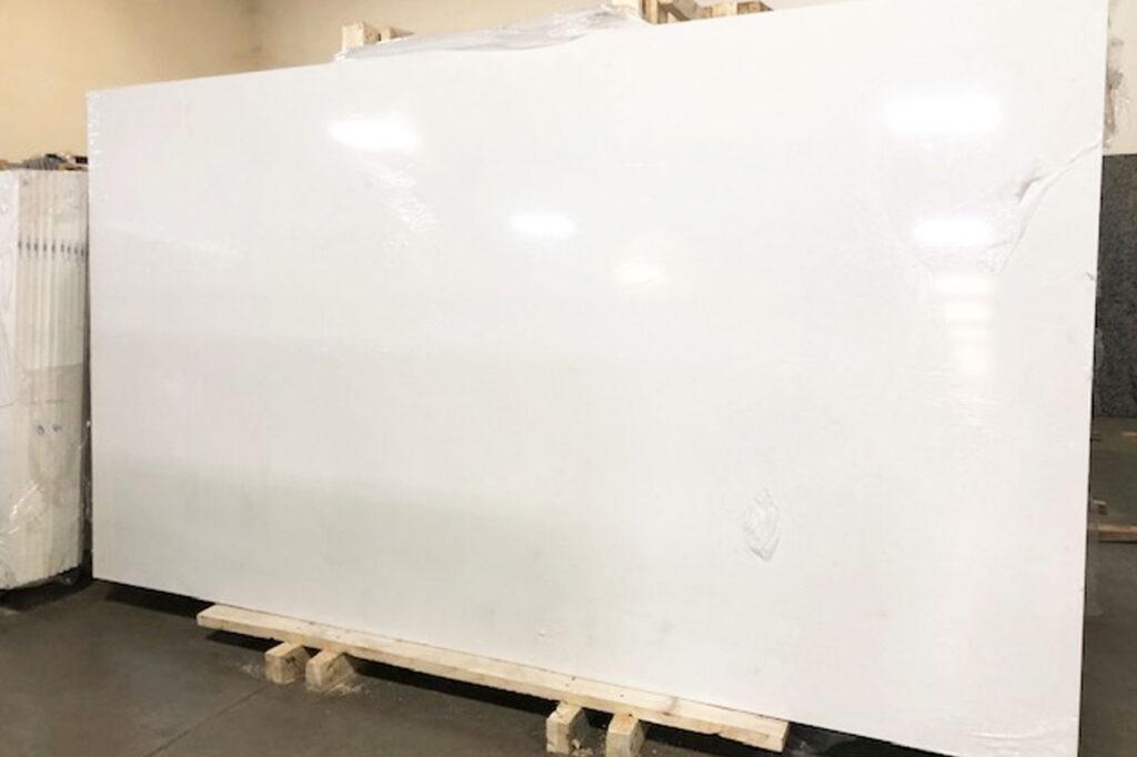A slab of Organic White Quartz