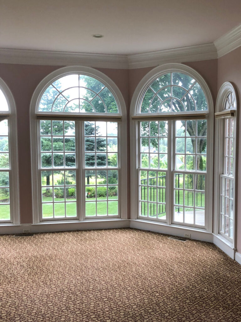 A view of the old windows in the family room.