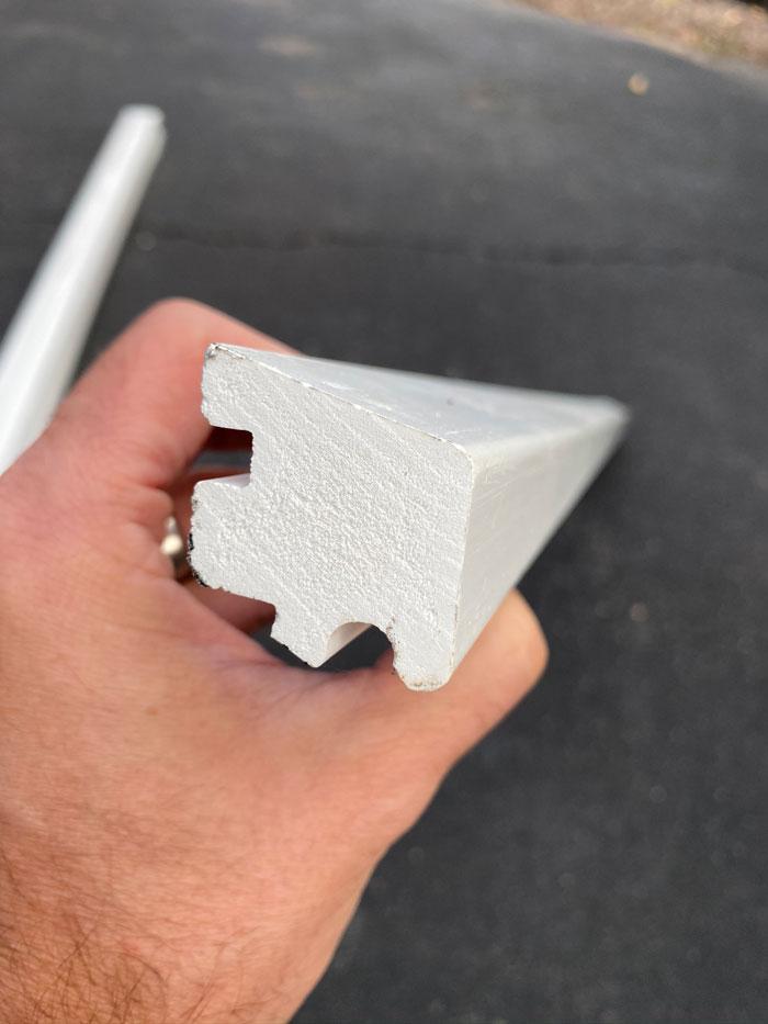 PVC window sill apron will last far longer than wood.