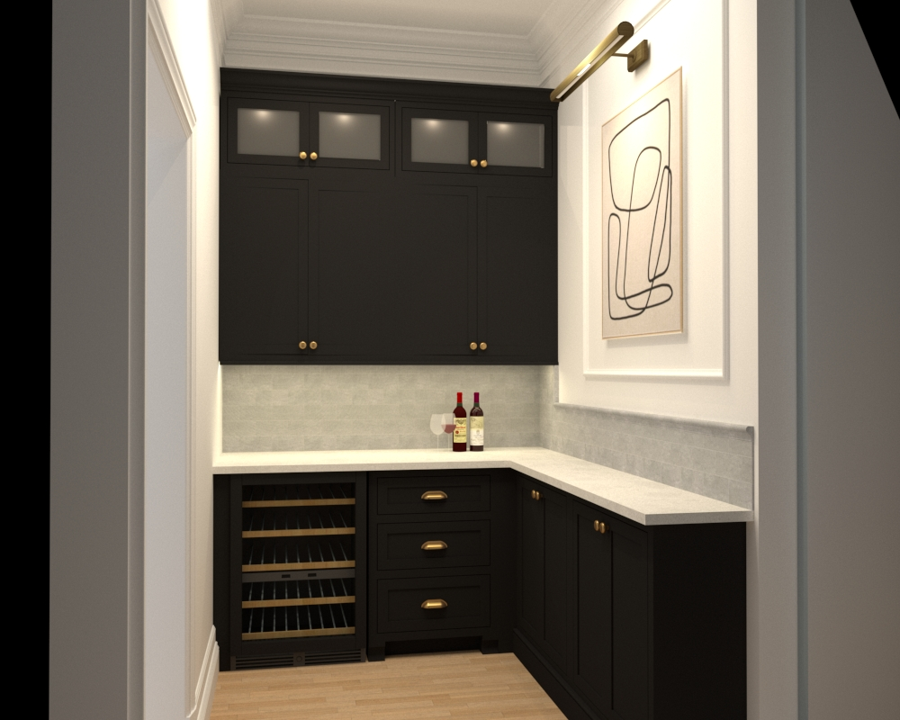 Our Dry Bar Renovation Design And Construction Plan 1021 Home