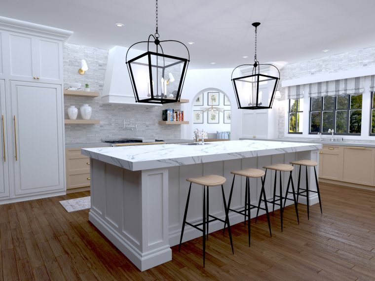 A new kitchen 3-d rendering